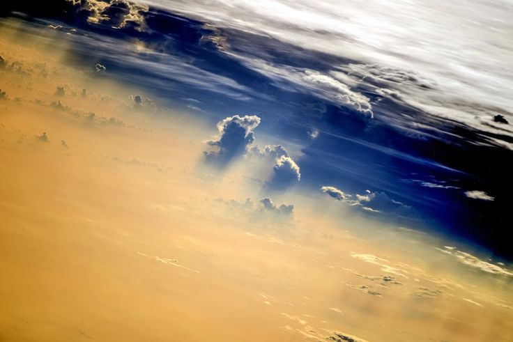Earth clouds taken from the ISS