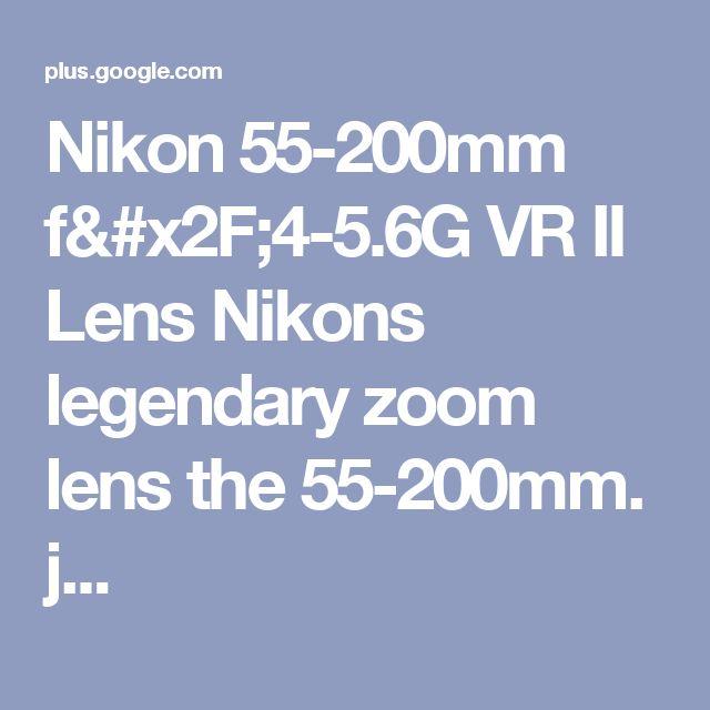 Nikon 55-200mm f/4-5.6G VR II Lens Nikons legendary zoom lens the 55-200mm. j...