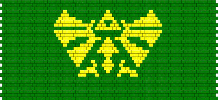 Legend Of Zelda Logo Peyote Bead Pattern
