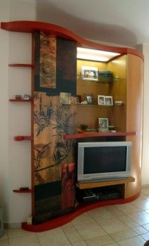 Entrance hall decor with hanger and storage wall , designed and realized by Mazzocca