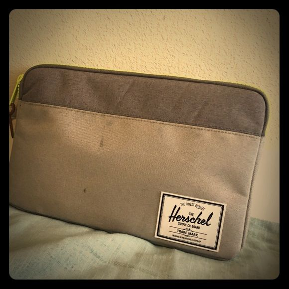 """11"""" Herschel Laptop Case!! Super cute. Super Trendy Laptop Case. Never used (too small for my laptop) Herschel Supply Company Bags Laptop Bags"""