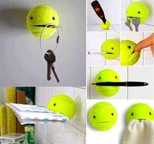Manualidades fáciles y baratas con pelotas de tenis - BlogHogar.com