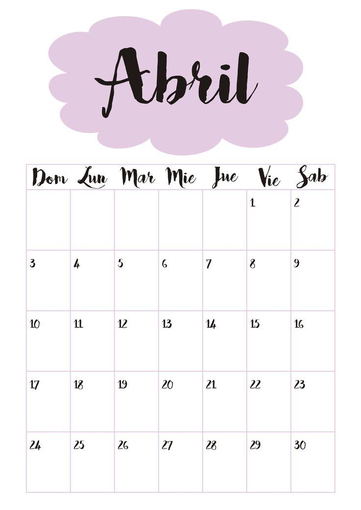Calendario 4 Abril ☼