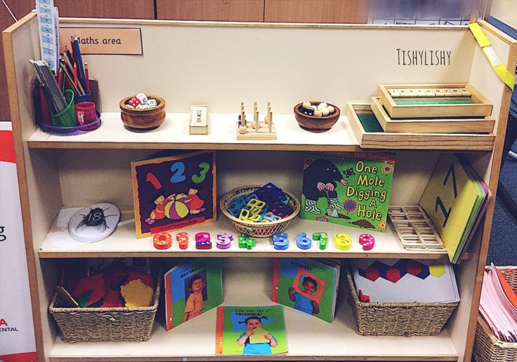 Thinned down my maths shelves. I have a shelf with a shape, number and games focus.