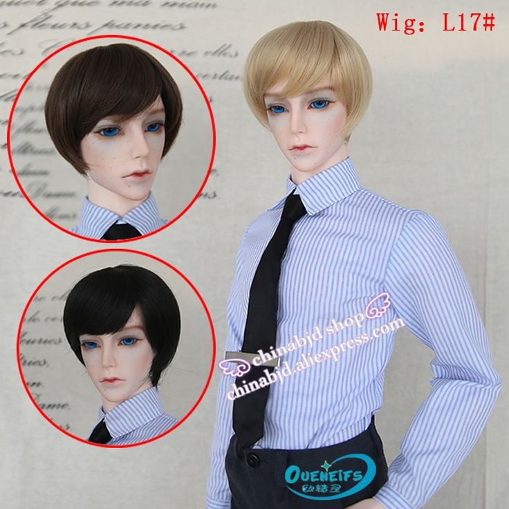 16.88$  Buy here - http://alint3.shopchina.info/go.php?t=32714652501 - Oueneifs bjd doll wig 9-10 inch 1/3 high-temperature wig boy short hair doll Wigs with bangs fashion type stylish hair   #buyonline