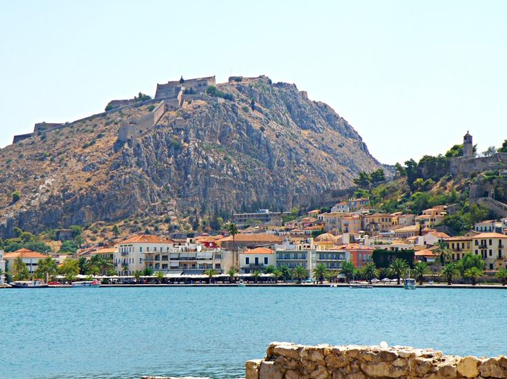 View of Nafplio-Greece from the castle  of Bourtzi