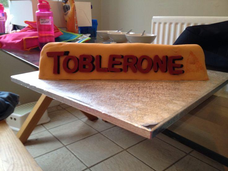 Toblerone cake
