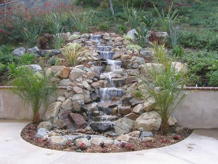 pondless waterfall | Pondless waterfall. Love this!!! Doesn't take you to the site or give ...