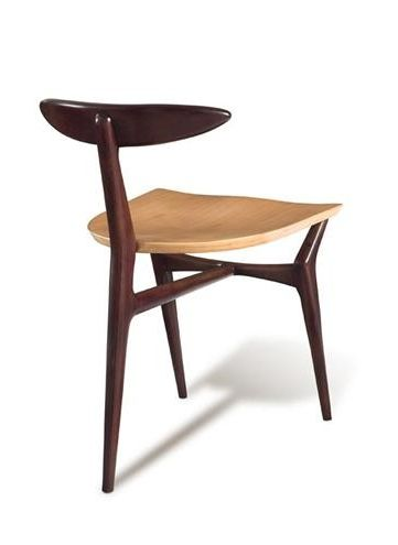 John Graz; Three-Legged Chair, 1960.