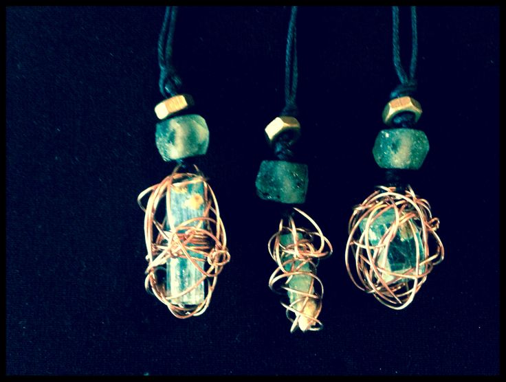 Glass bead bolted Crystal necklaces    -Stature of nature, all elements of texture!    -hardwirewarrior-     Your calling  Yet Simplistic these are uniquely quaint in copper.