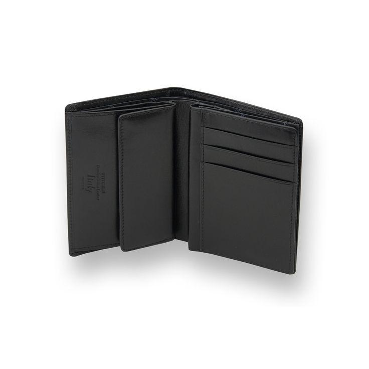 Średniej wielkości portfel męski Wittchen 21-1-008, kolekcja Italy, kolor czarny