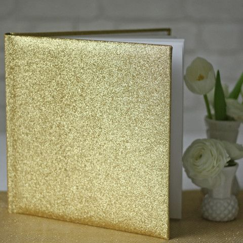 Gold Glitter Wedding Guest Book - The Wedding of My Dreams