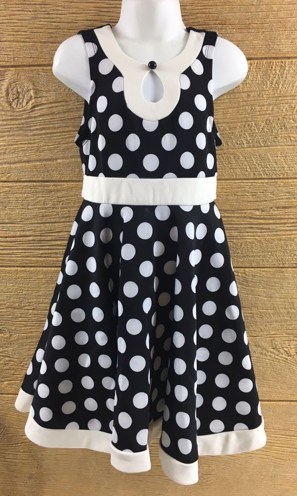 Little girls black and white dresses — 3