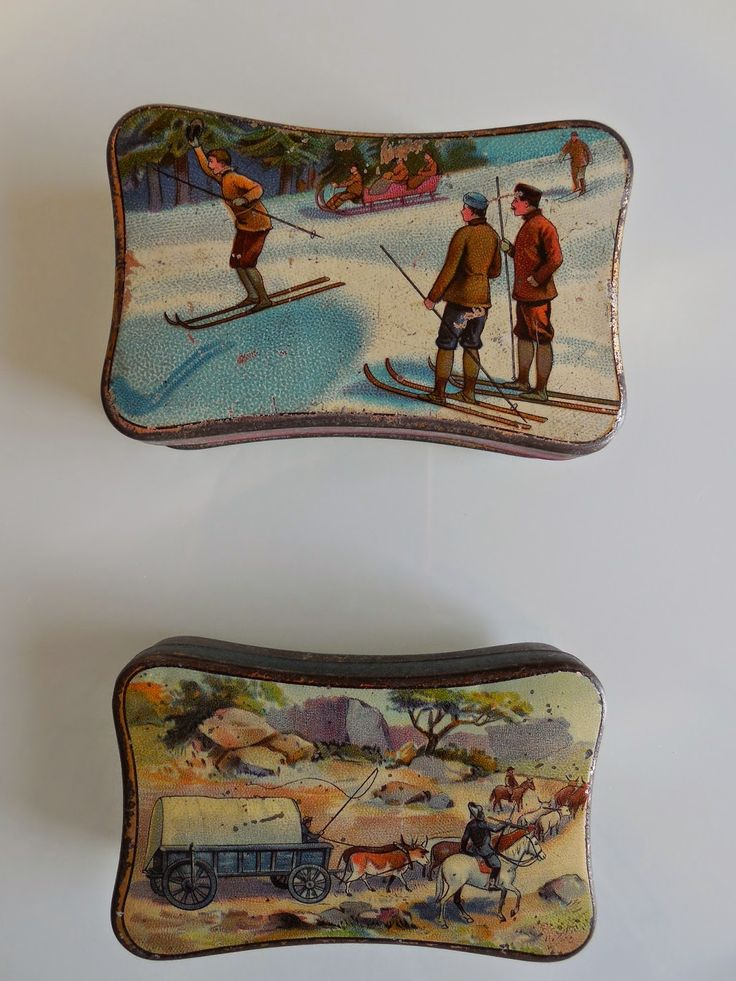 French cachous tins