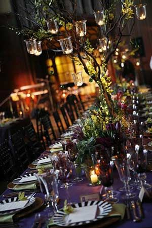 """San Francisco-based Events of Distinction is honored at The Special Event 2010 for this """"Spice of Life"""" wedding, celebrating the different cultures of the bride and groom. Vivid hues including plum, copper and tangerine spice up decor."""
