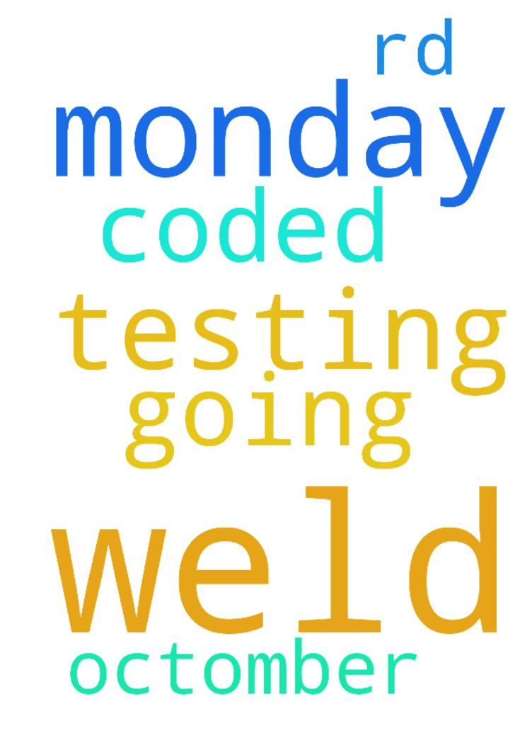 pray for me am going for coded weld testing on monday - pray for me am going for coded weld testing on monday 3rd Octomber. Posted at: https://prayerrequest.com/t/jKZ #pray #prayer #request #prayerrequest