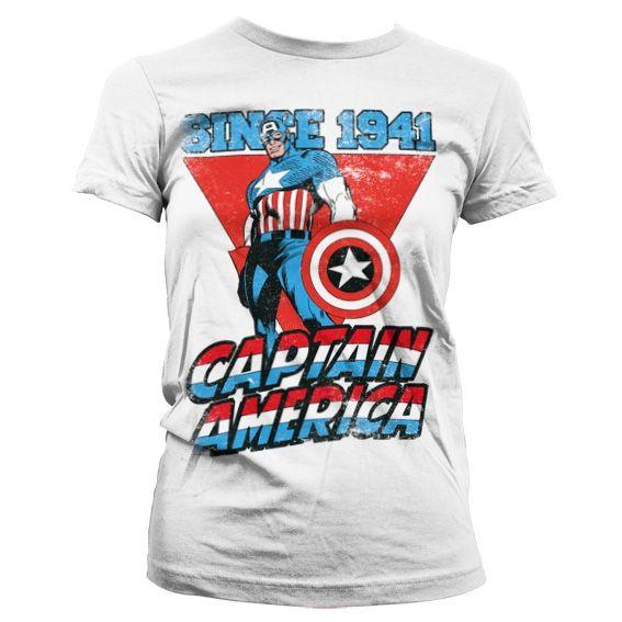 Marvel Captain America Since 1941 Koszulka Damska