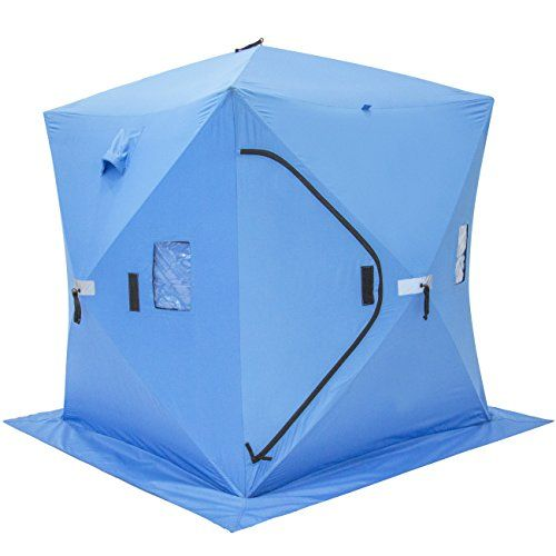 Fishing: Best Choice Products Ice Fishing Shelter Tent Portable Pop Up Ice Fishing House Blue Waterproof *** More info could be found at the image url.