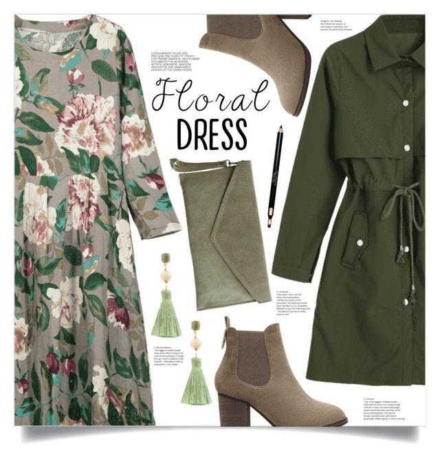 """""""Fall Dress"""" by mahafromkailash ❤ liked on Polyvore featuring Pretty Lavish, Atelier Mon, Hedi Slimane, Clarins and vintage"""