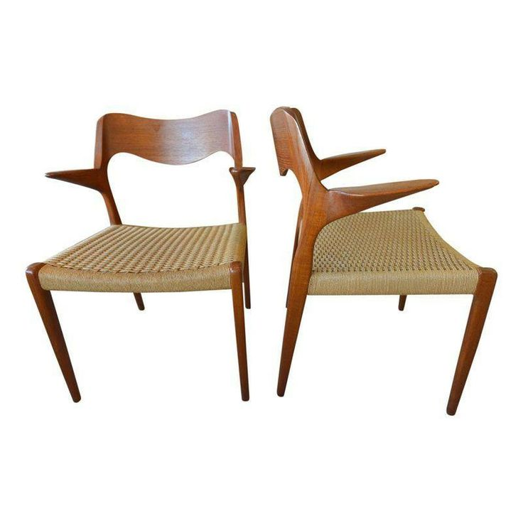 Mid-Century Danish Chairs by N.O. Moller - A Pair - $3,000 Est. Retail - $1,799 on Chairish.com