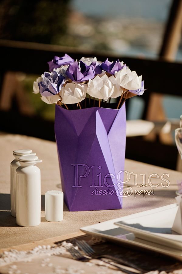 Centro de mesa de papel #centerpiece #paper