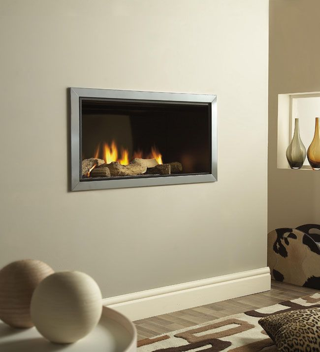 Wall Mounted Fires Verine Vertex Slimline Polished Trim Hole In The Wall Gas Fire Direct