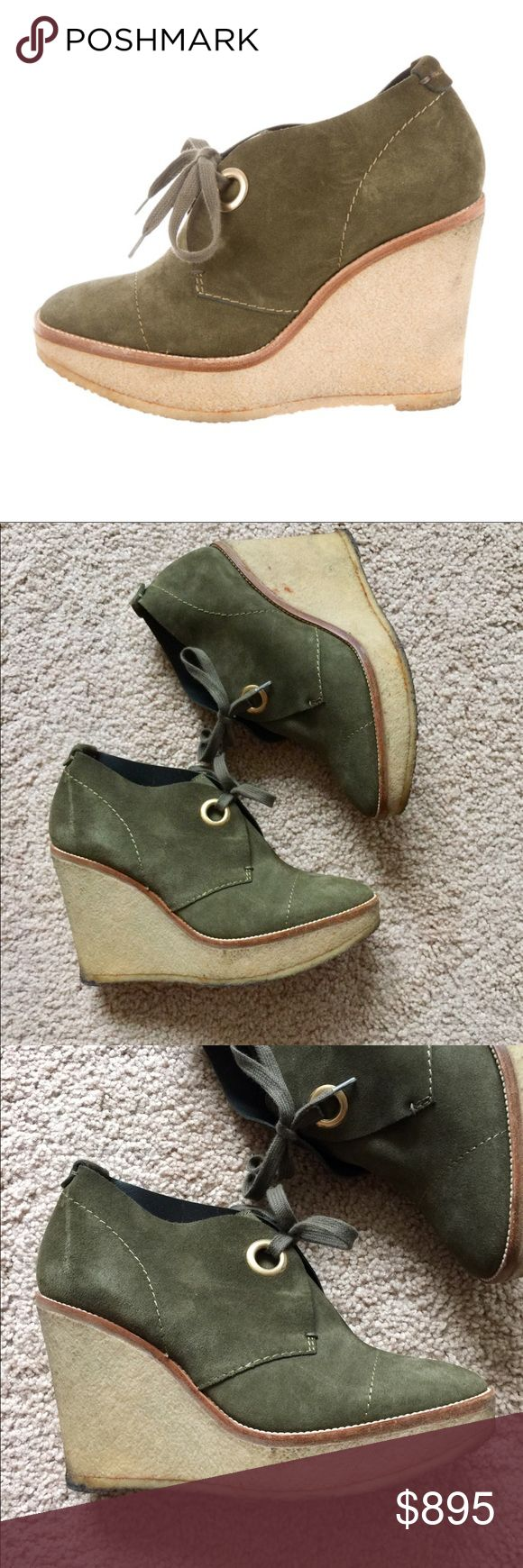 ❗️Yves Saint Laurent Authentic Leathr Wedges $1095 ❗️Yves Saint Laurent YSL Authentic Olive Green Leather Wedges. Size 38. Retails $1095! In great condition light wear as shown. Feel free to make an offer! Selling to the first good offer I receive. Discounts on bundles. Large Cleanout Sale!   ❤️Posh Ambassador  ❤️Over 8,000 Sales ❤️Fast Shipping Yves Saint Laurent Shoes Wedges