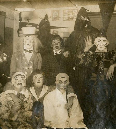Great masks. I guess that year was all about clowns and asians.