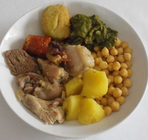 Cocido castellano con garbanzos