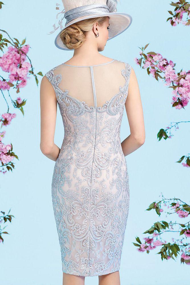 Ronald Joyce 991227 Embellished Dress & Chiffon Frock Coat in Latte/Cream
