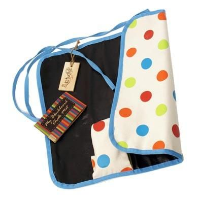 My Blackboard Roll Mat is actually a chalkboard that can be rolled up and tossed in a diaper bag or purse!