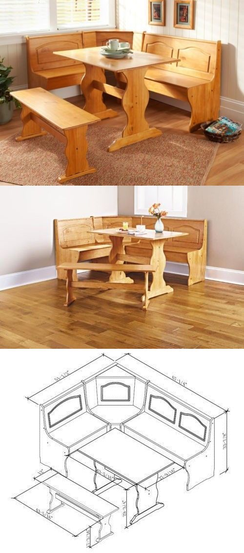 Astonishing Dining Sets 107578 Kitchen Nook Solid Wood Corner Dining Pdpeps Interior Chair Design Pdpepsorg