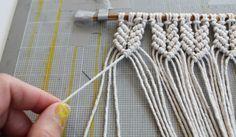 mini-macrame-wall-hanging - DIY | Parlor Diary                              …