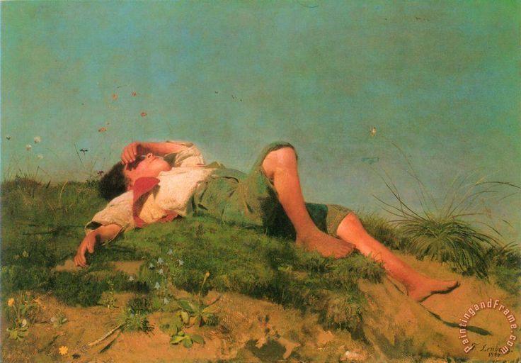 A Shepherd Boy painting - Franz Von Lenbach A Shepherd Boy Art Print