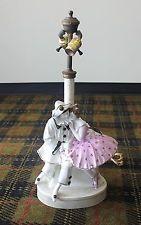 Antique Goldscheider Figurine Pierrot and Columbine 8655 Austria 1908-09 Signed