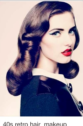 Gorgeous Pinup 40's styling, Love their hair and make up! its so meh