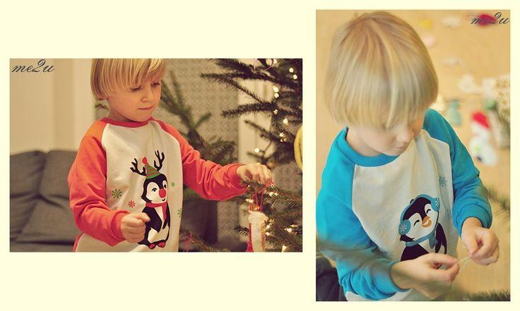 Bluzy dla dzieci z zimowym motywem/ raglan kids sweatshirt with winter design