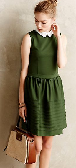 Darling fit and flare dress with removable Peter Pan collar #anthrofave http://rstyle.me/n/t3hyhnyg6