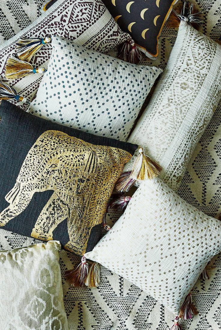 Tasseled Pointilliste Pillow