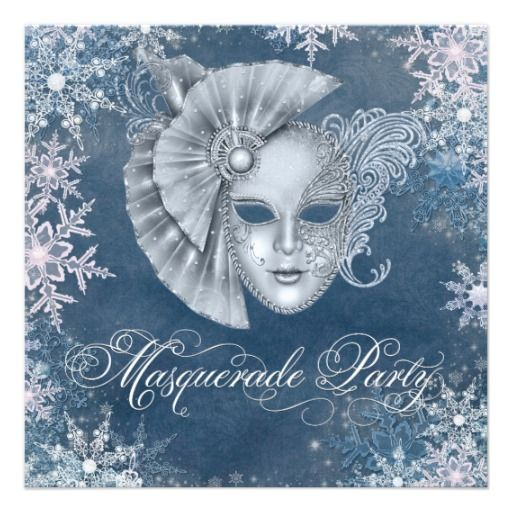 winter wonderland themed party | Winter Wonderland Masquerade Party Invitations from Zazzle.com