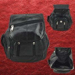 New Genuine Soft Seepskin Leather Backpack Ladies Women Black LB55605