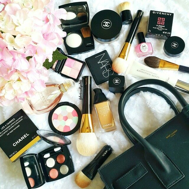 #chanel #makeup #beauty #flatlay #nars #givenchy #saintlaurent