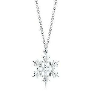 Tiffany  Co Attractive Snowflake Necklace for mom