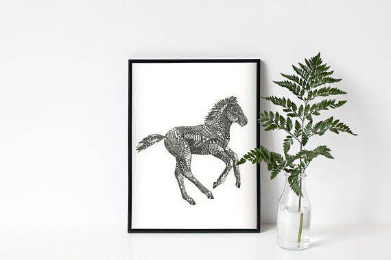 Download Print  PDF Foal Print  Foal art  Horse Art  Colt