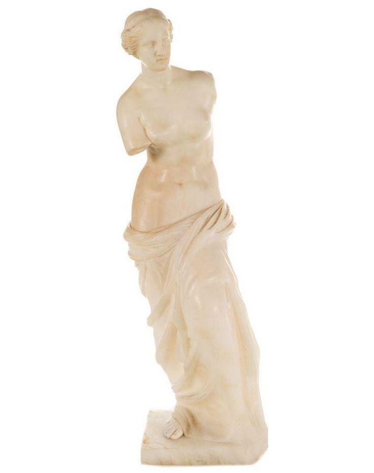 Venus De Milo Alabaster Sculpture on Chairish.com