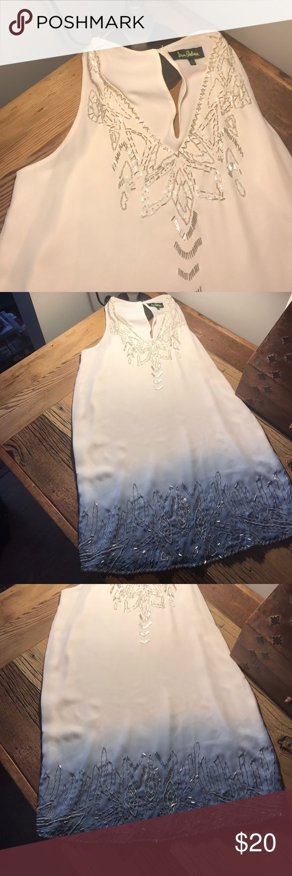 Sam Edelman gorgeous ombré dress This Sam Edelman dress is so beautiful! It has the most beautiful silver beads on it that give it the most elegant look! It ombrés from a beautiful blue to a cream. It is perfect for a night out, a big meeting, or a day at work! It is in perfect condition and was never worn! I have next day shipping on almost every order! Make me offers and ask me questions! Sam Edelman Dresses Mini