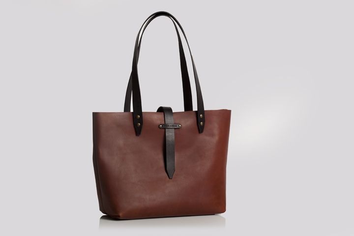 Leather tote/shopping bag by Bark and Mill #leather #handmade #craft #bag #fashion #accessories #totebag