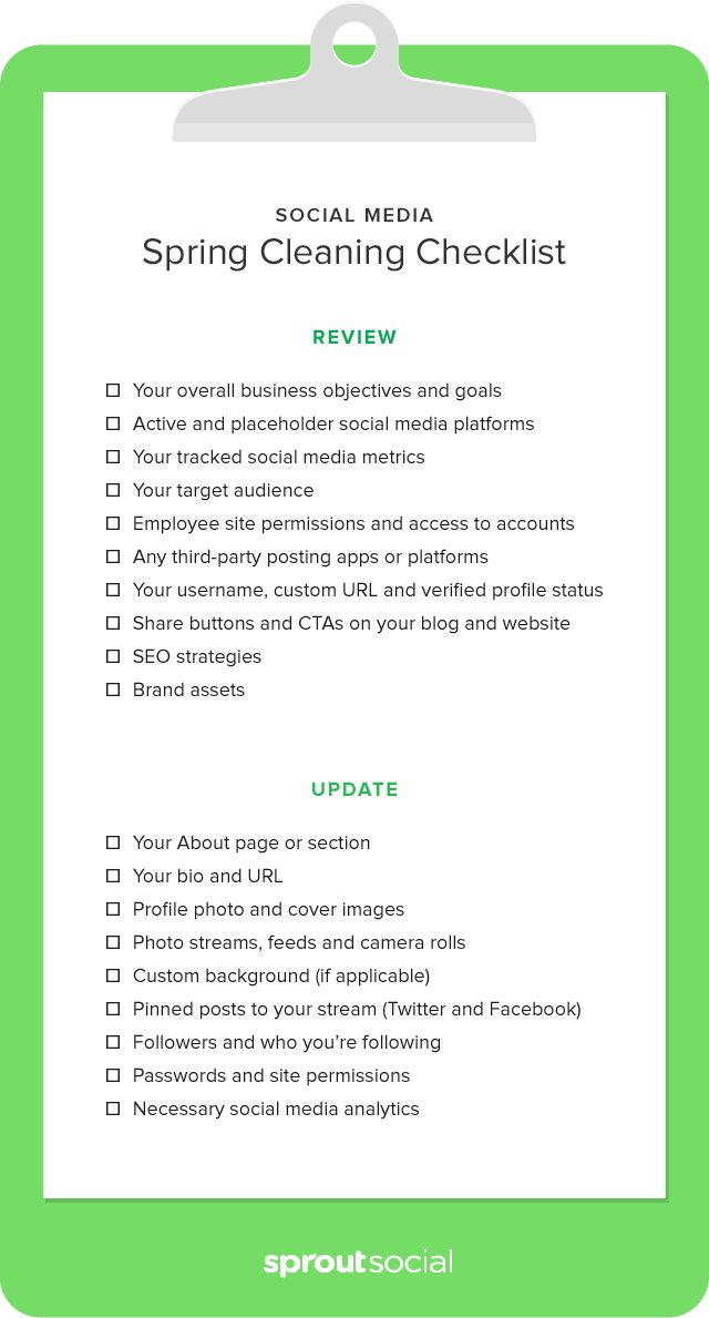 social media marketing checklist pdf