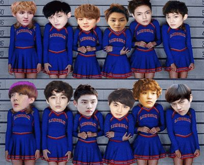 LOL I COULDN'T STOP LAUGHING AT THIS!!! WHO EVER MADE THIS, THANK YOU!!! xD #exo XD
