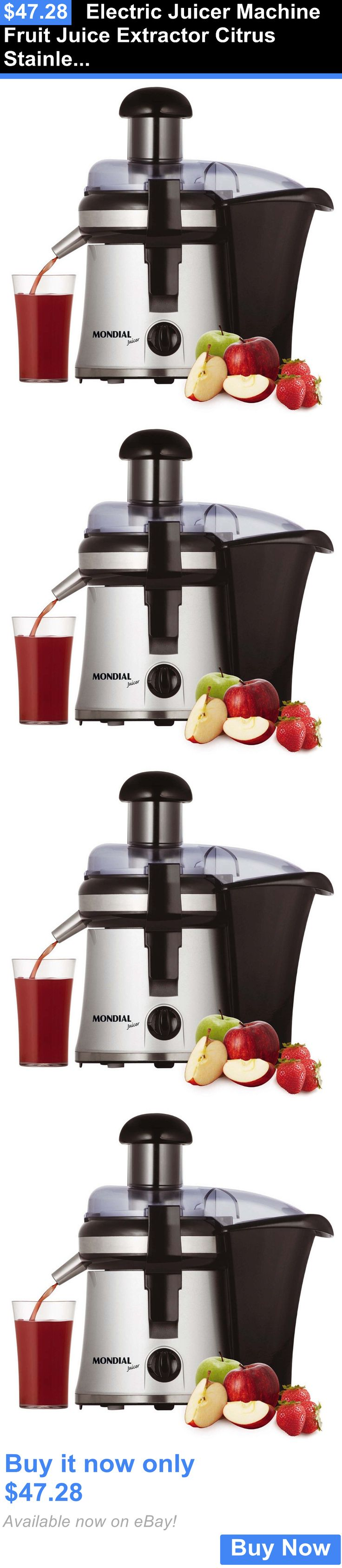 appliances: Electric Juicer Machine Fruit Juice Extractor Citrus Stainless Steel Press New BUY IT NOW ONLY: $47.28